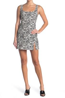 re:named apparel Zebra Print Mini Dress