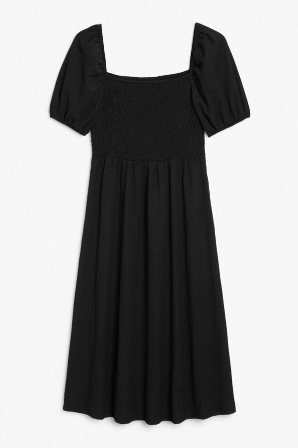 Thumbnail for your product : Monki Midi shirred dress