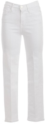 Frame Straight-Leg Cropped Jeans