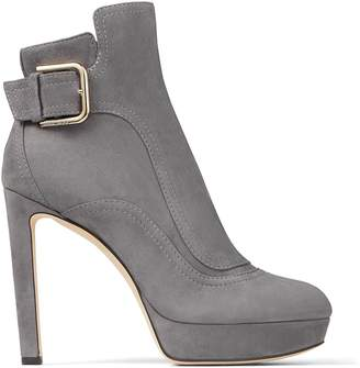 Jimmy Choo Britney 115 Suede Buckle Boots