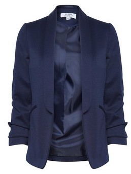 Dorothy Perkins Womens Dp Petite Navy Ponte Jacket