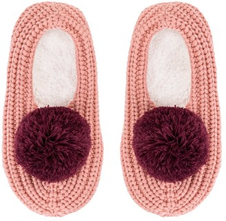 Verloop Pommed Rib Slippers Pink Coral/Wine Small/Medium