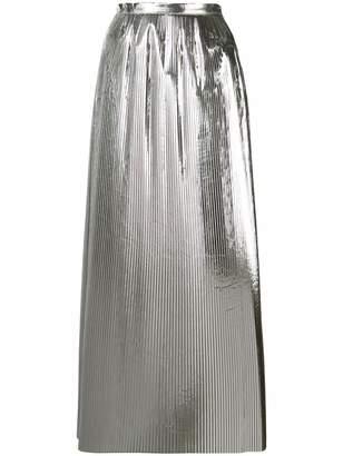 Maison Margiela tonal pleated maxi skirt