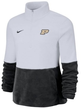 Nike Women's Purdue Boilermakers Therma Long Sleeve Quarter-Zip Pullover