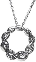 Lois Hill Classic Silver Toggle Necklace.