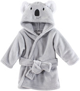 Hudson Baby Boys' Bath Robes Koala - Gray Koala Hooded Bathrobe - Newborn