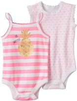 Baby Starters Baby Girl 2-pk. Pineapple Graphic & Floral Print Bodysuits