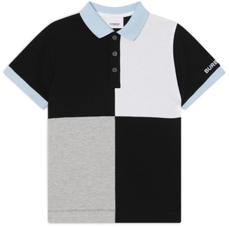 Burberry Kids Colour-Block Polo Shirt (3-14 years)