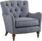 Lexington Oyster Bay Armchair Upholstery Color: Blue, Leg Color: Brown
