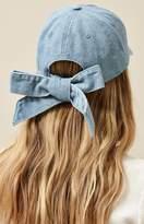 La Hearts Denim Bow Dad Hat