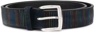 Orciani Stitched-Stripe Belt