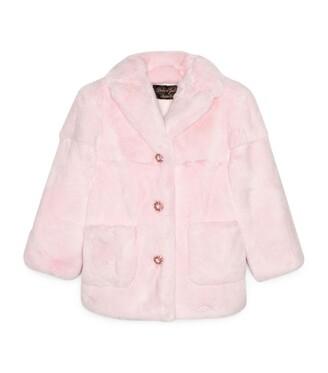 Dolce & Gabbana Kids Rabbit Fur Coat (2-6 Years)