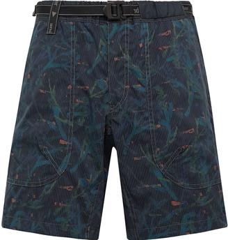 and wander Belted Printed Coolmax Seersucker Shorts