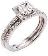 Rina Limor Fine Jewelry Women's 1/4 CT Diamond Halo 10k White Gold Ring