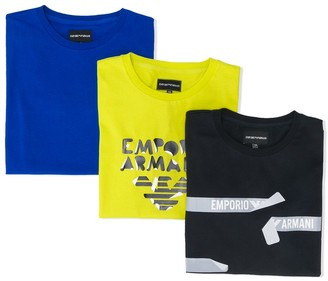 Emporio Armani Kids TEEN set of three short sleeve T-shirts