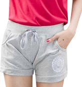 QIYUN.Z Women Casual Short Pants Candy Waist Drawstring Sport Board Surf Shorts Pantalon