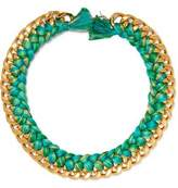 Aurelie Bidermann Do Brasil 18-Karat Gold Braided Necklace