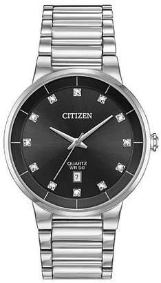 Citizen Quartz Mens Silver Tone Stainless Steel Bracelet Watch-Bi5010-59g Family