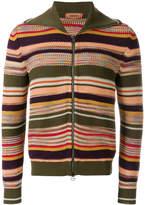 Missoni multi-stripe zip front cardigan