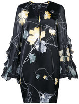 Thomas Wylde orchid print mini dress