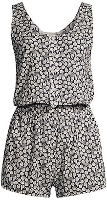 Stella McCartney Ruched Oranges Printed Playsuit
