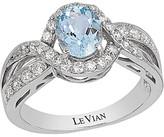 Thumbnail for your product : LeVian 14K White Gold 1.49 Ct. Tw. Diamond & Aquamarine Ring