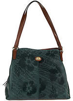 Tignanello As Is Embossed Leather Triple Entry Shopper