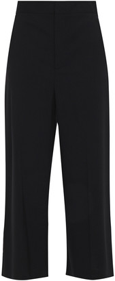 RED Valentino Cropped Stretch-wool Wide-leg Pants