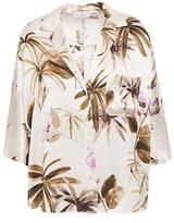 Vince Floral-print Silk-satin Shirt