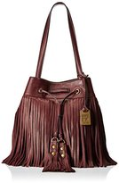 Frye Heidi Fringe Bucket Hobo Bag