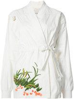 MHI embroidered Arctic kimono