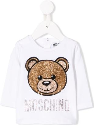 Moschino Kids Teddy bear top