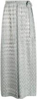 Missoni Mare metallic wide-leg crochet trousers