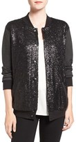 Splendid Women's Sequin Bomber Jacket