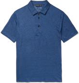 Etro - Slim-fit Mélange Linen Polo Shirt