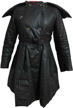 DKNY Anthracite Cotton Trench coats