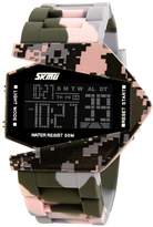 MFKEW GEWINGW Men's or boys's camouflage aircraft military style wristwatch,Unique colorful le luminous american fighters waterproof electronic sports jelly vintage watch for kis or couples