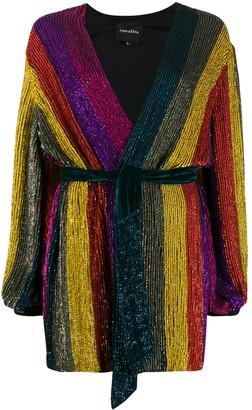 retrofete striped sequin mini dress
