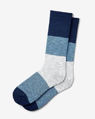 Express Marled Color Block Dress Socks