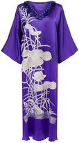 Natori Embroidered Split Silk Kaftan