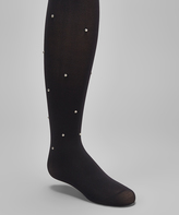 Me Moi Black Pindot Tights - Toddler & Girls