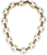 Rachel Zoe Crystal & Enamel Chain-Link Necklace