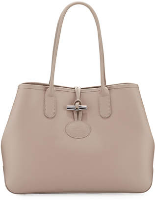 Longchamp Roseau Leather Top-Handle Tote Bag