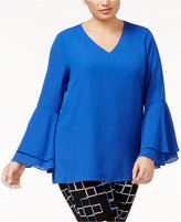 Alfani Plus Size Ruffled Blouse, Only at Macy's