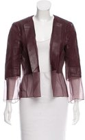 Akris Structured Leather Jacket