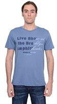 HUGO BOSS Orange Mens Blue T-shirt (Large)