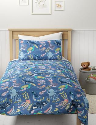 Marks and Spencer Pure Cotton Ocean Bedding Set