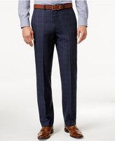 Ryan Seacrest Distinction Men's Slim-Fit Blue Flannel Glen Plaid Suit Pants, Only at Macy's