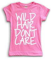 Urban Smalls Pink 'Wild Hair Don't Care' Tee - Toddler & Girls