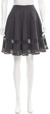 Alaia Fit and Flare Knit Skirt